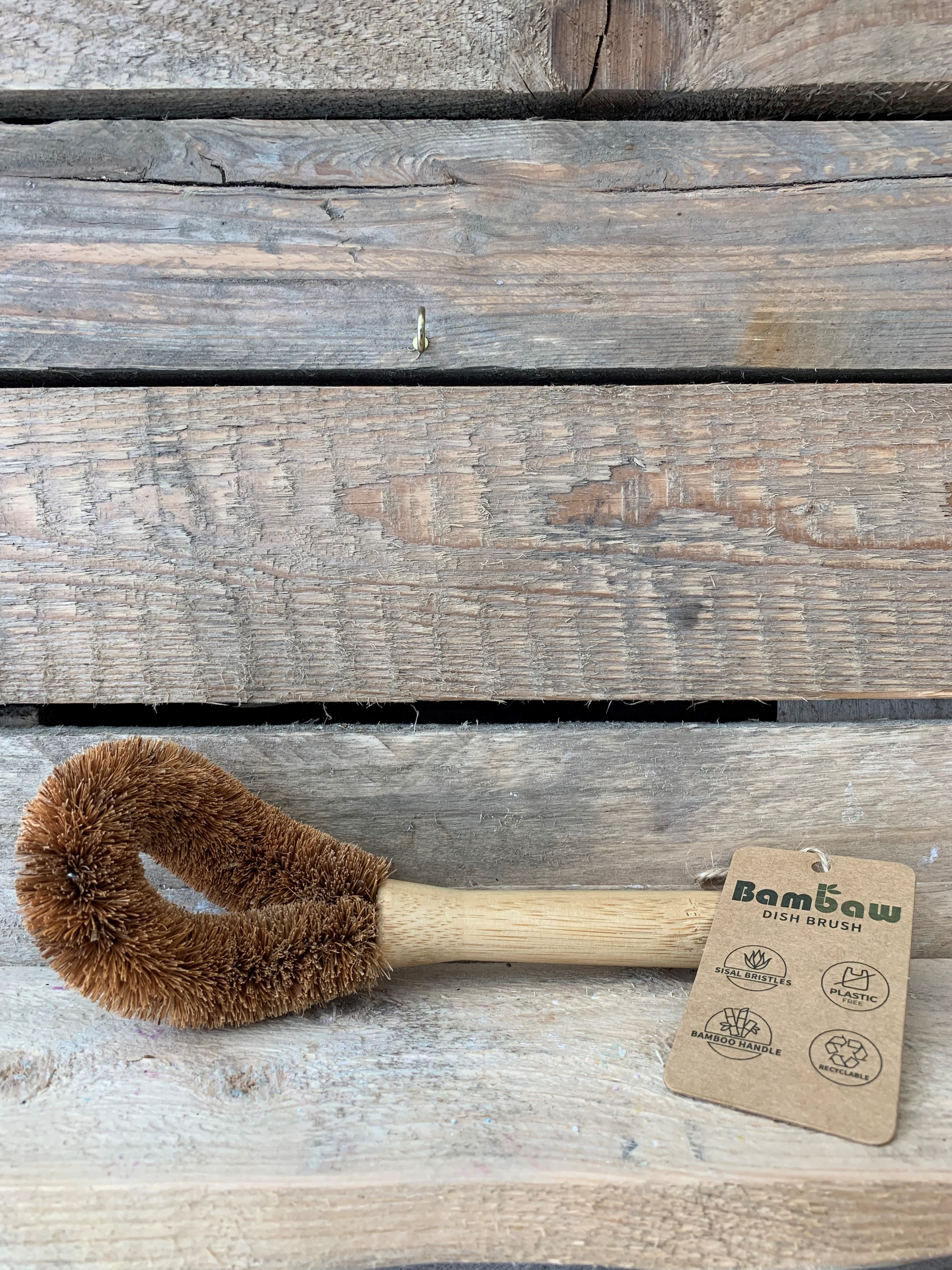 Dish Brush with Coconut Bristles
