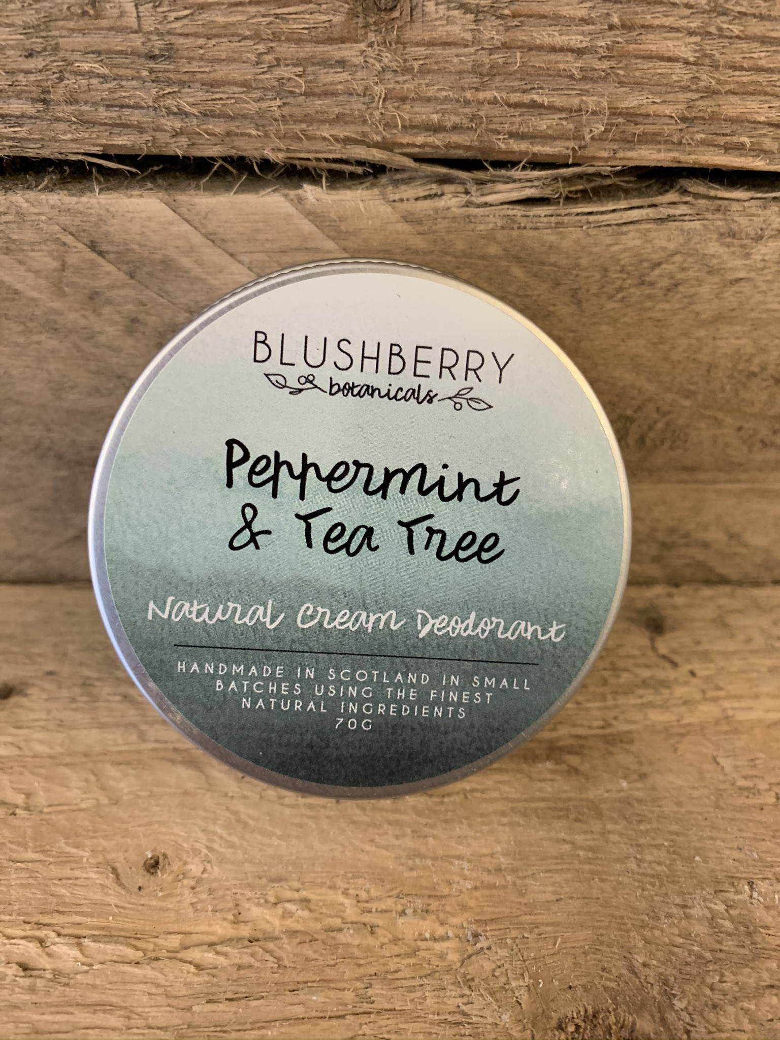 Peppermint and Tea Tree Cream Deodorant by Blushberry Botanicals