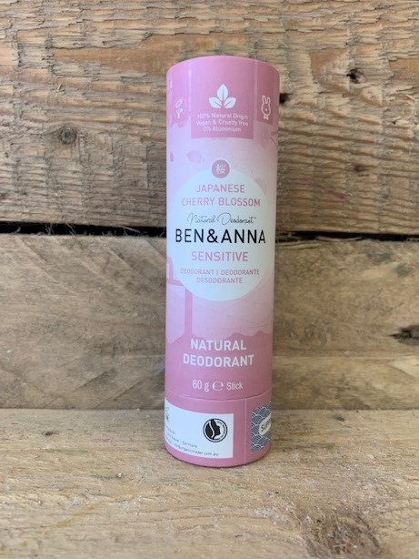 Ben and Anna Sensitive Japanese Cherry Blossom Natural Deodorant Stick