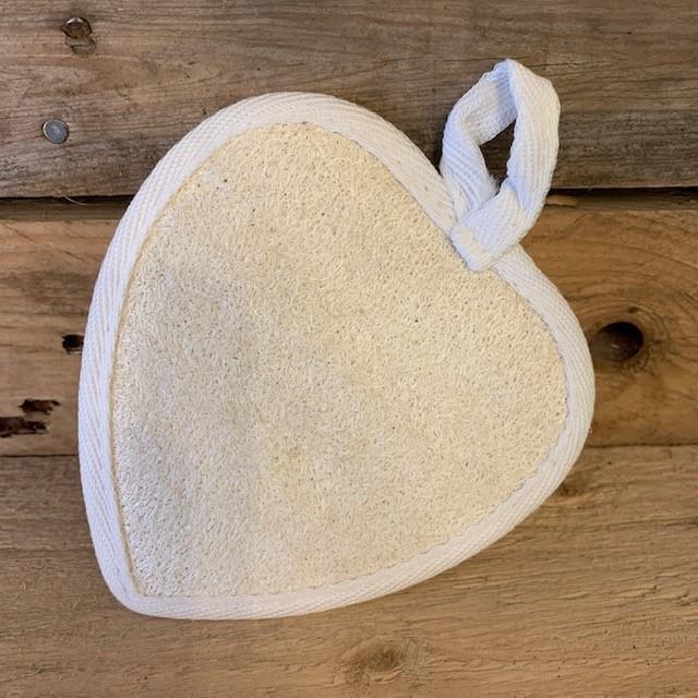 Natural Loofah Heart Body Scrub