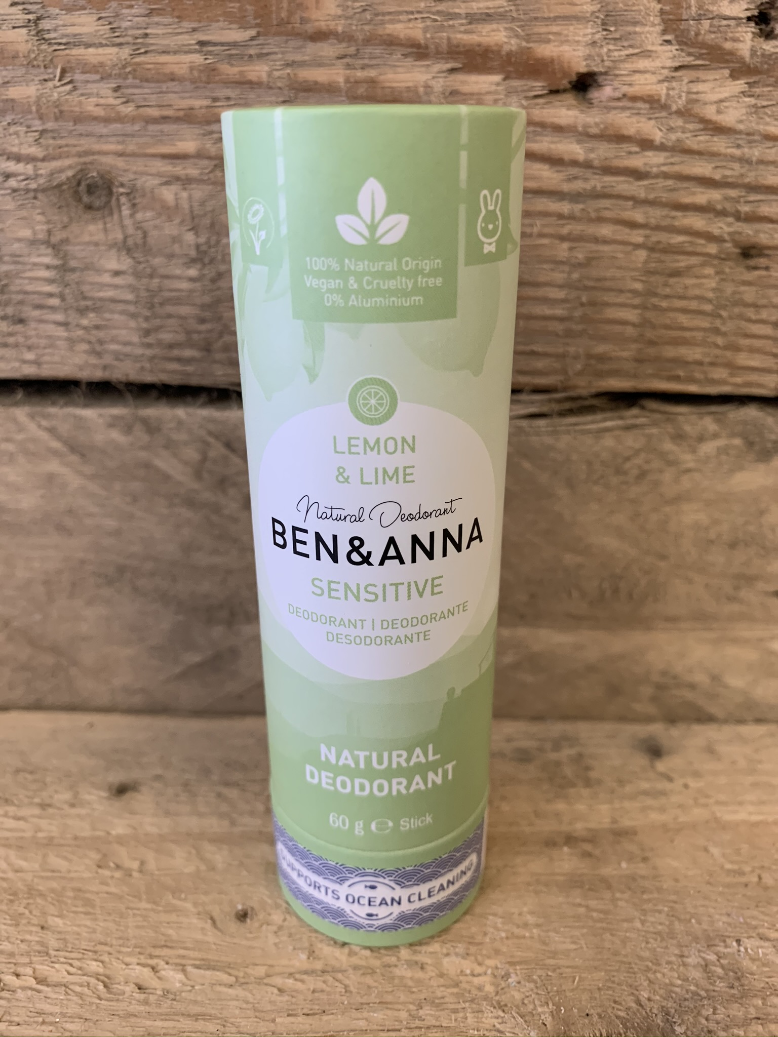 Ben & Anna Sensitive Lemon and Lime Natural Deodorant Stick