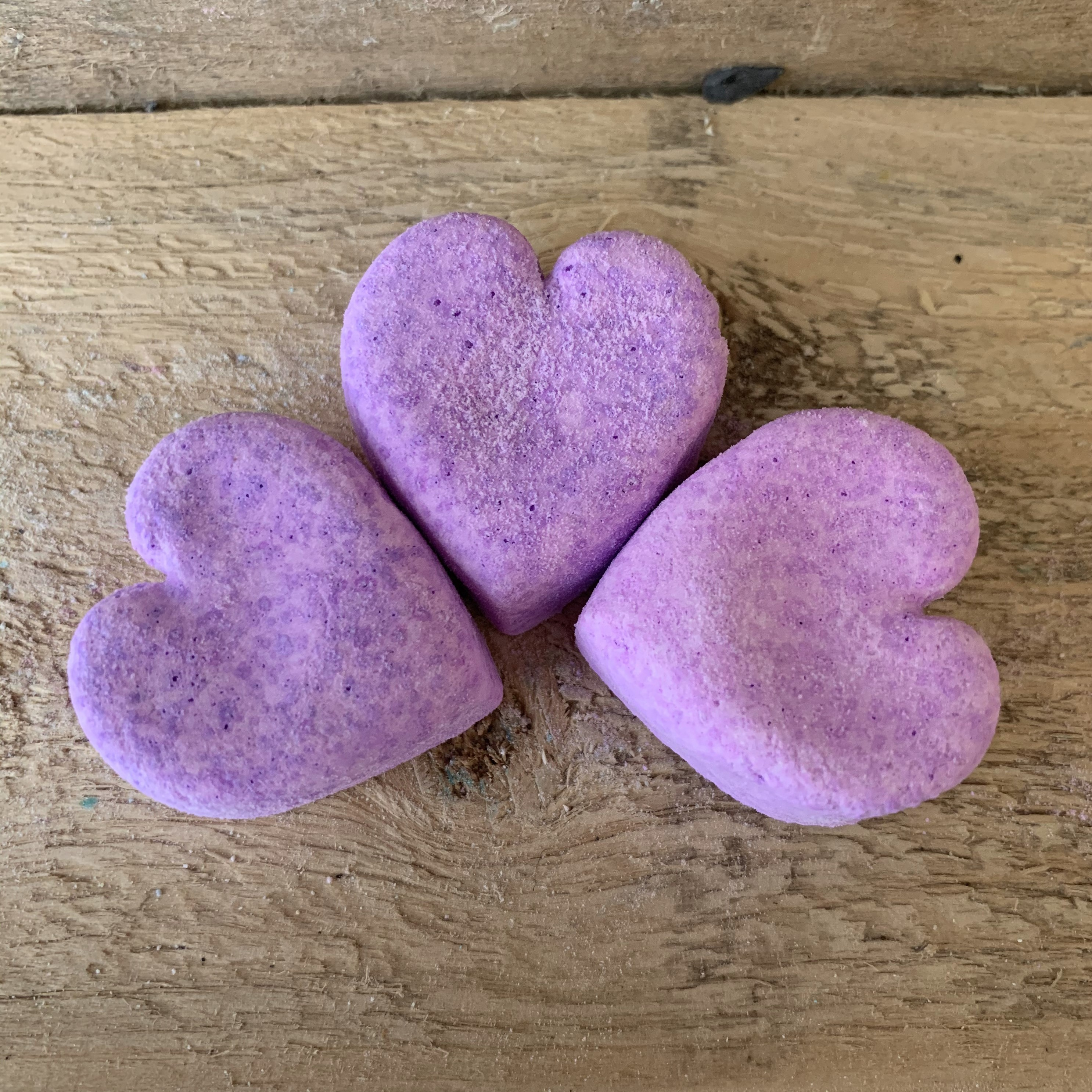 Mini Heart Bath Bombs 2 for £1