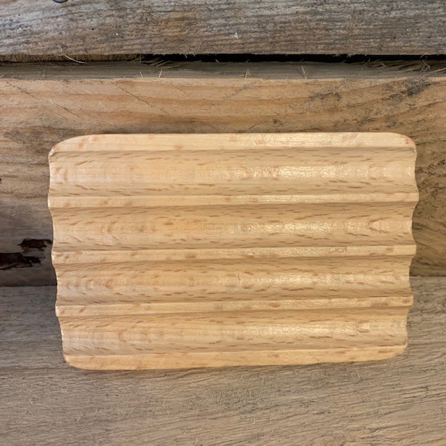 Corrugated Hemu Wood Soap Dish