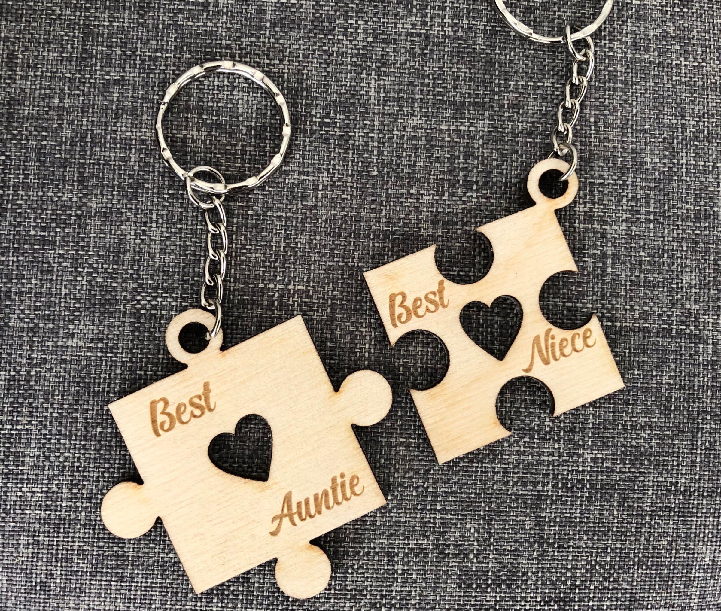 Puzzle keyrings  -set of 2