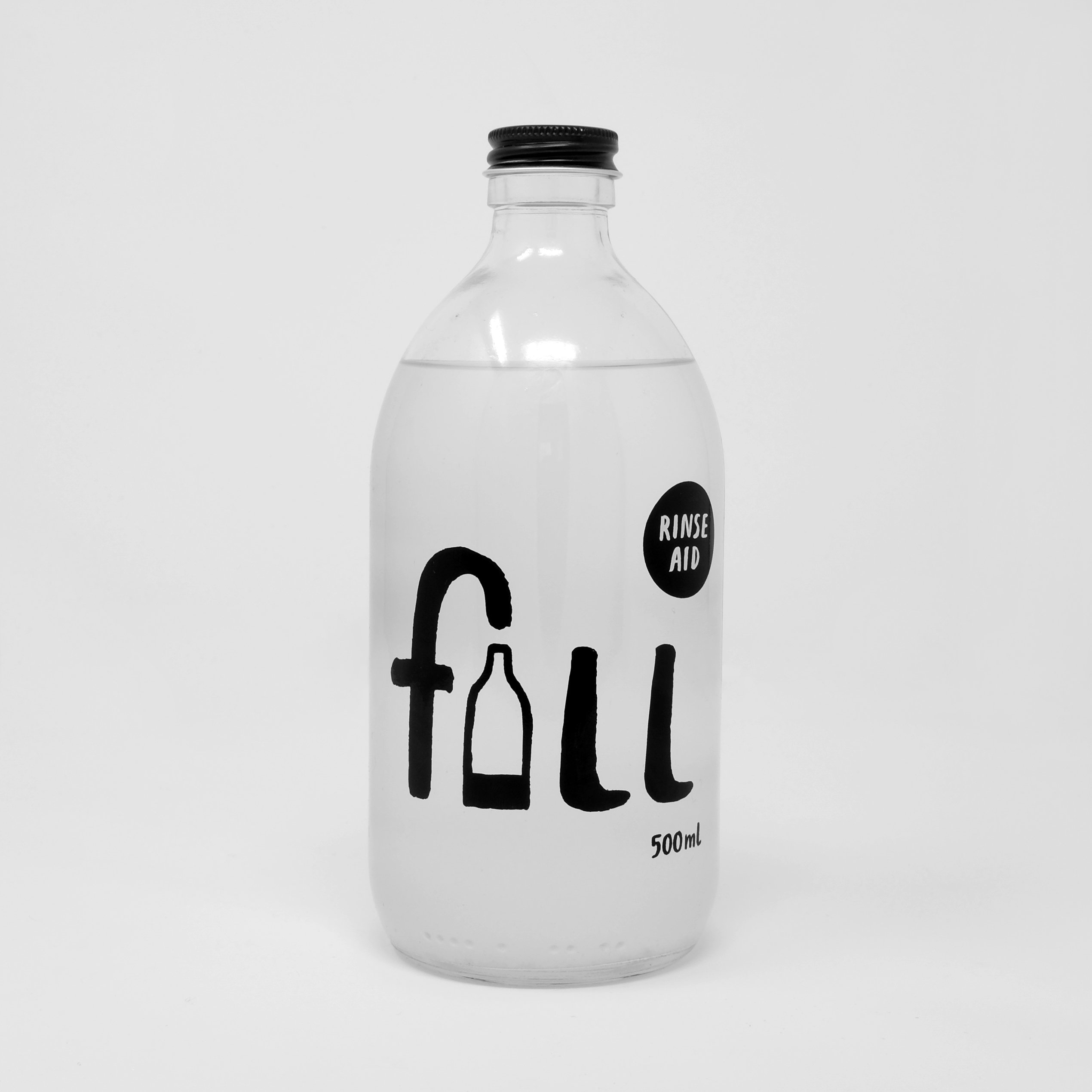 Eco Rinse Aid 500ml Glass Bottle by Fill Refill