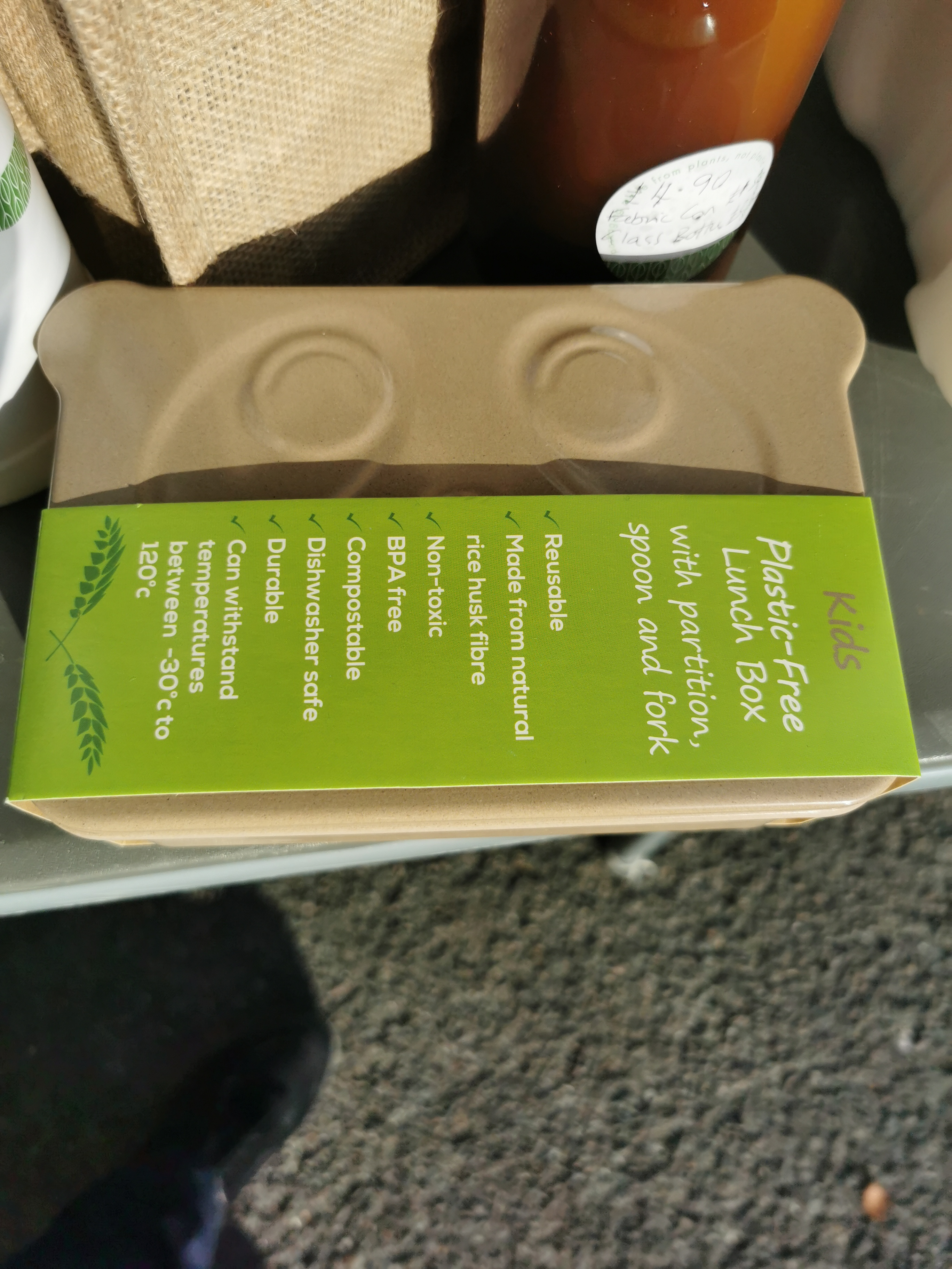 Plastic Free Lunch Box - Nature & Me