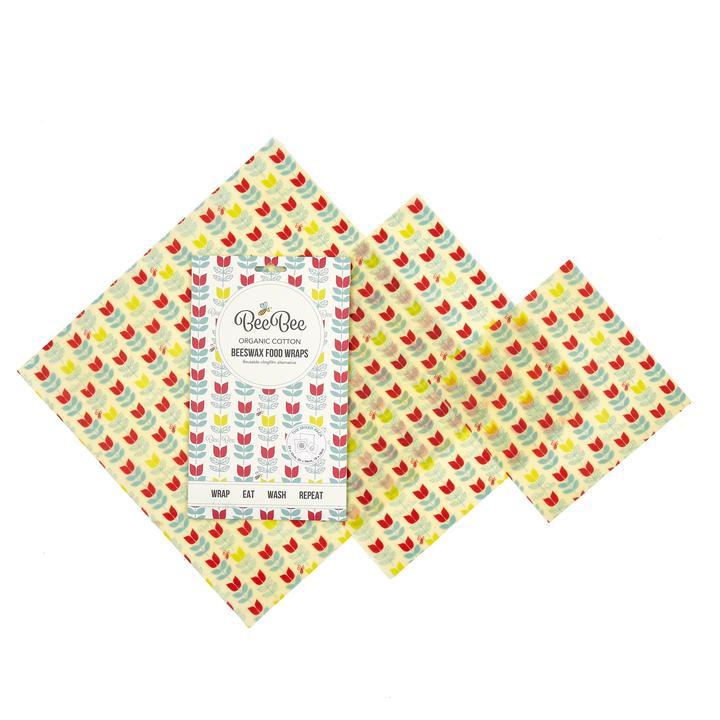 BeeBee Wraps - Beeswax wraps Mixed 3 Pack - 4 Varieties