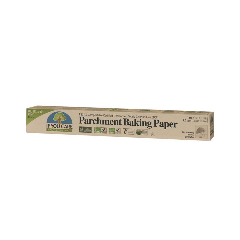 Unbleached compostable parchment baking sheets