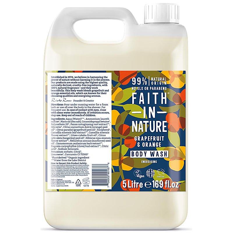 Faith in Nature Bodywash 5 Litres