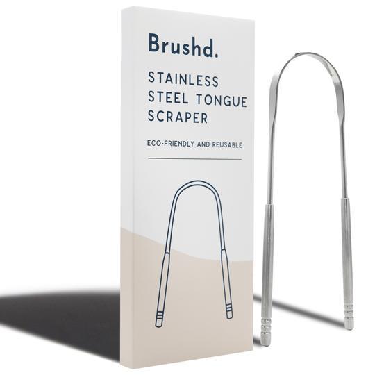 brushd copper tongue scraper