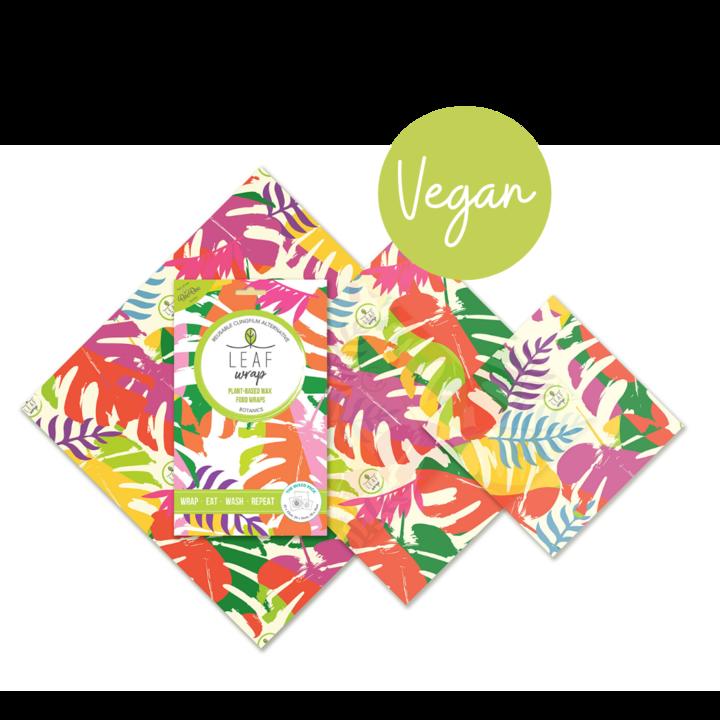 BeeBee Wraps Leaf - Vegan Food Wraps -Mixed 3 Pack