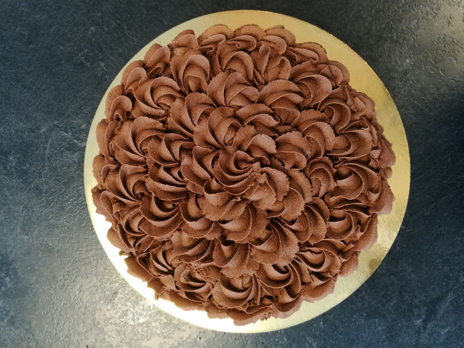 Sjokoladekake m/ sjokoladesmørkrem