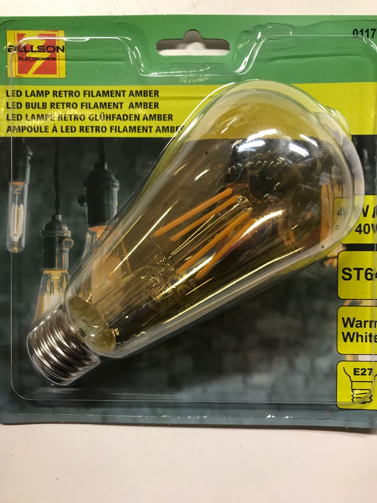 Led lampa Retro (varm) 4w=40w