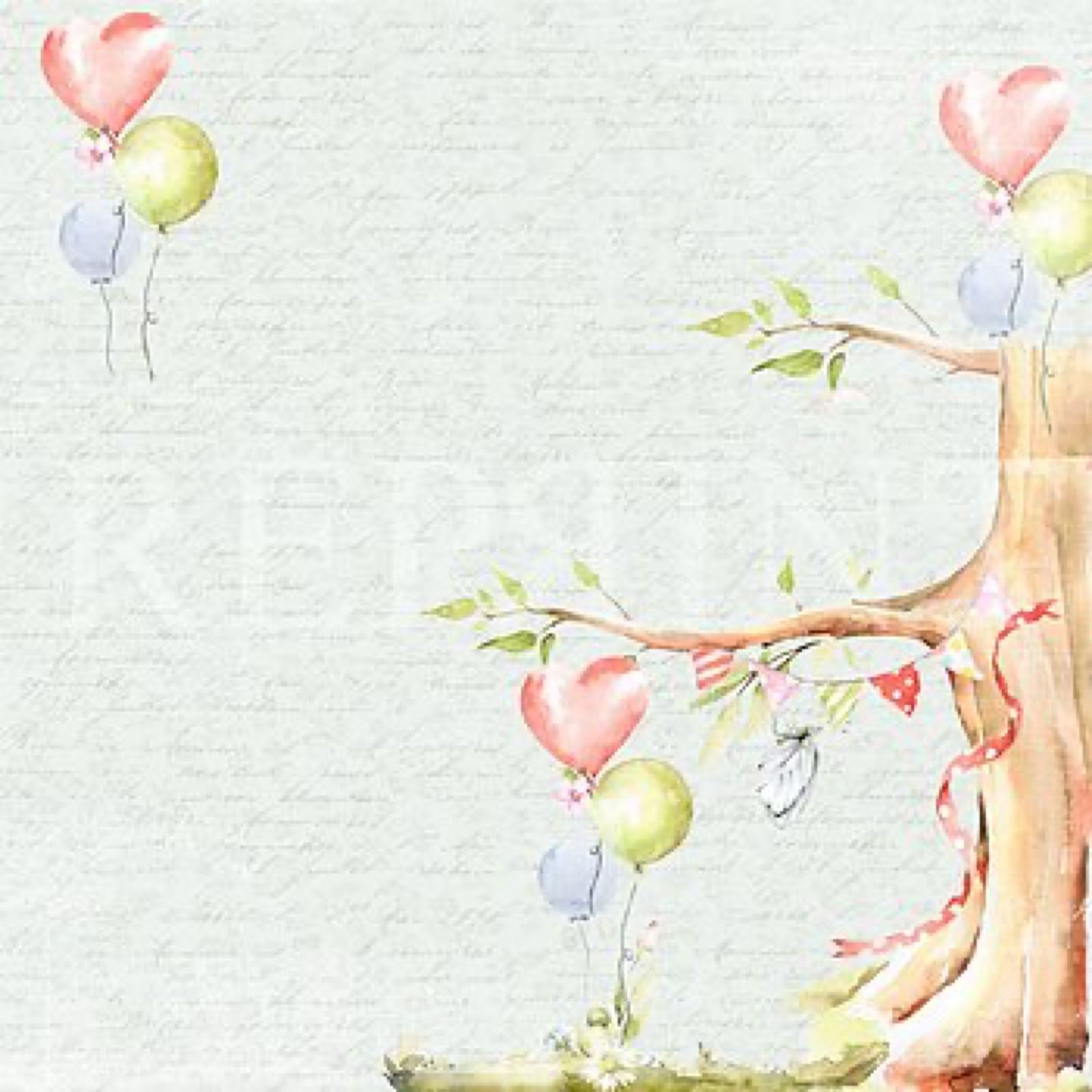 Reprint 12x12, Party collection Birthday Tree, RP0362