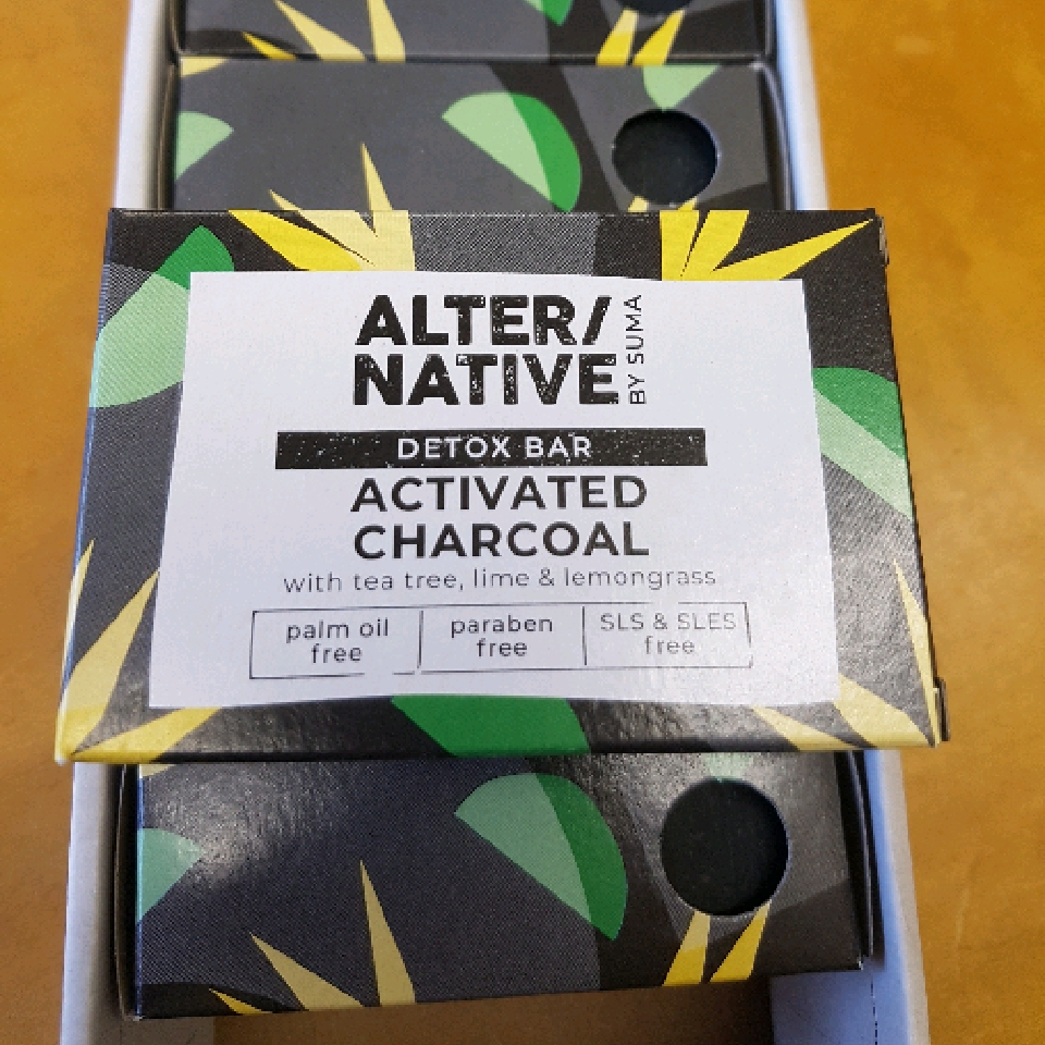 Activated Charcoal Detox  Bar. palm oil free