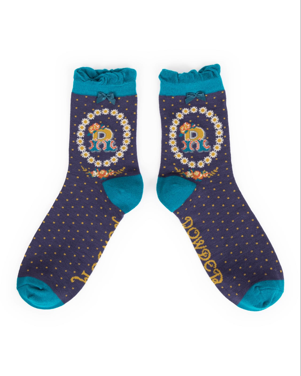 Powder Alphabet socks R (product may differ from item shown in the photo)