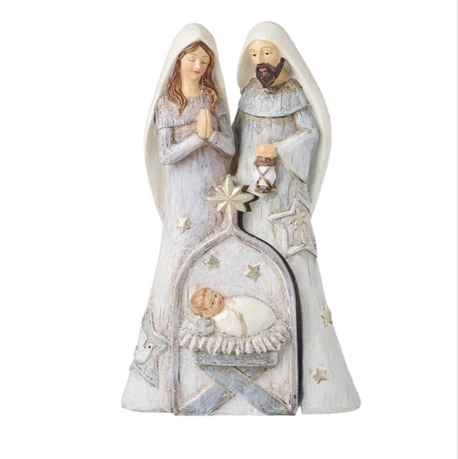 Nativity Silver - Faith - 2 piece