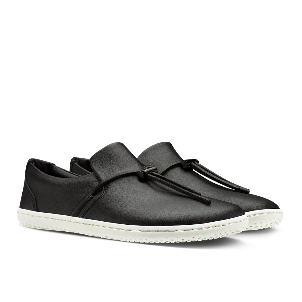 Vivobarefoot Ra Slip On Black Leather