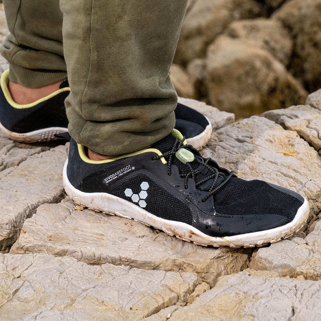 Vivobarefoot Primus Trail Obsidian Bio Lime Kid/Junior