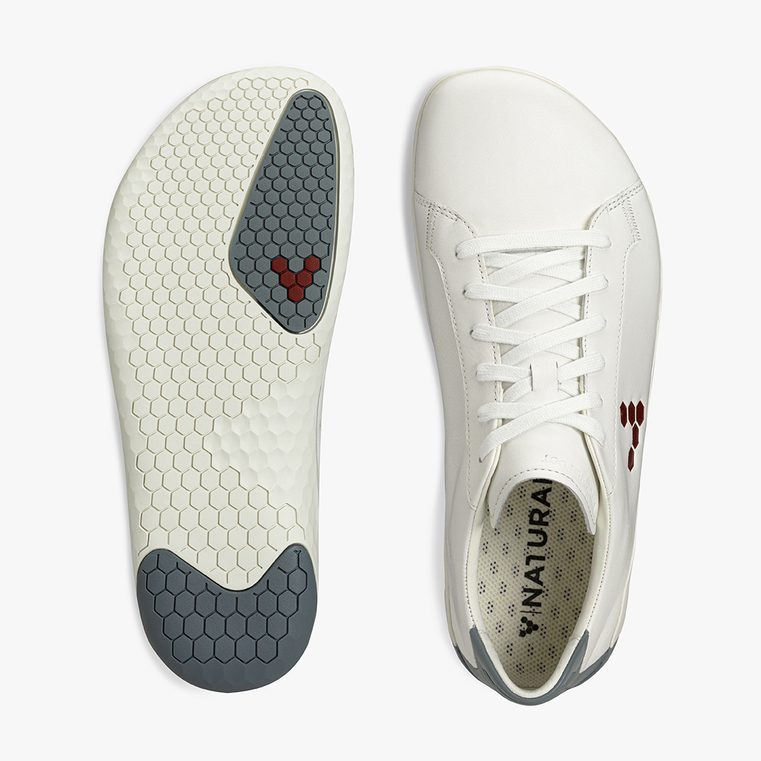 Vivobarefoot Geo Court White Blue Red