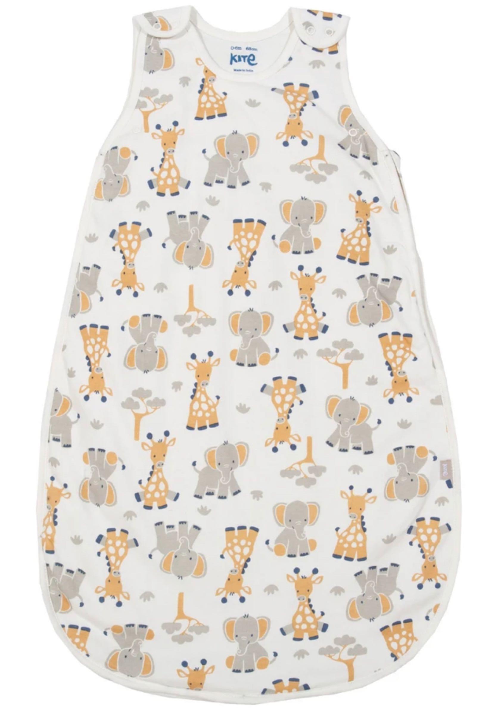 Giraffe and elephant sleep bag