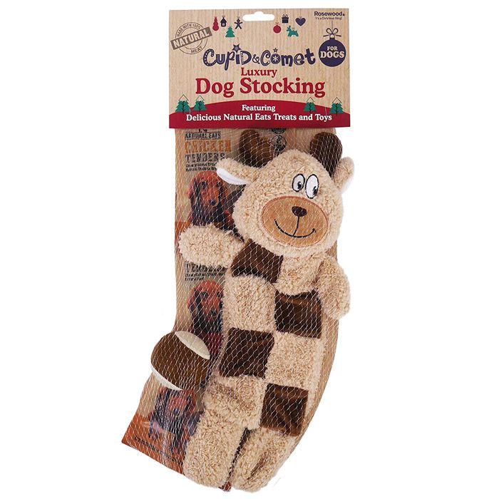 Rosewood Cupid & Comet Natural Eats Dog Stocking