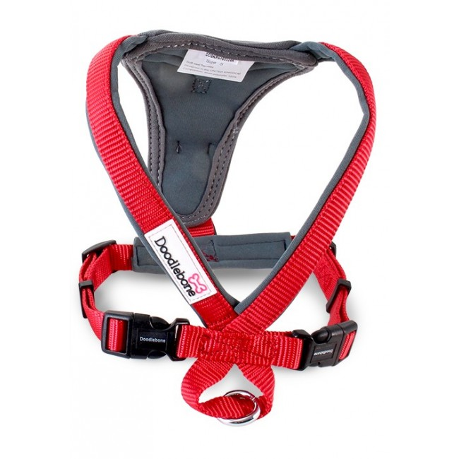 Doodlebone X Over Harness Red