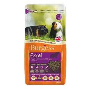 Burgess Excel Guinea Pig Blackcurrant 2kg