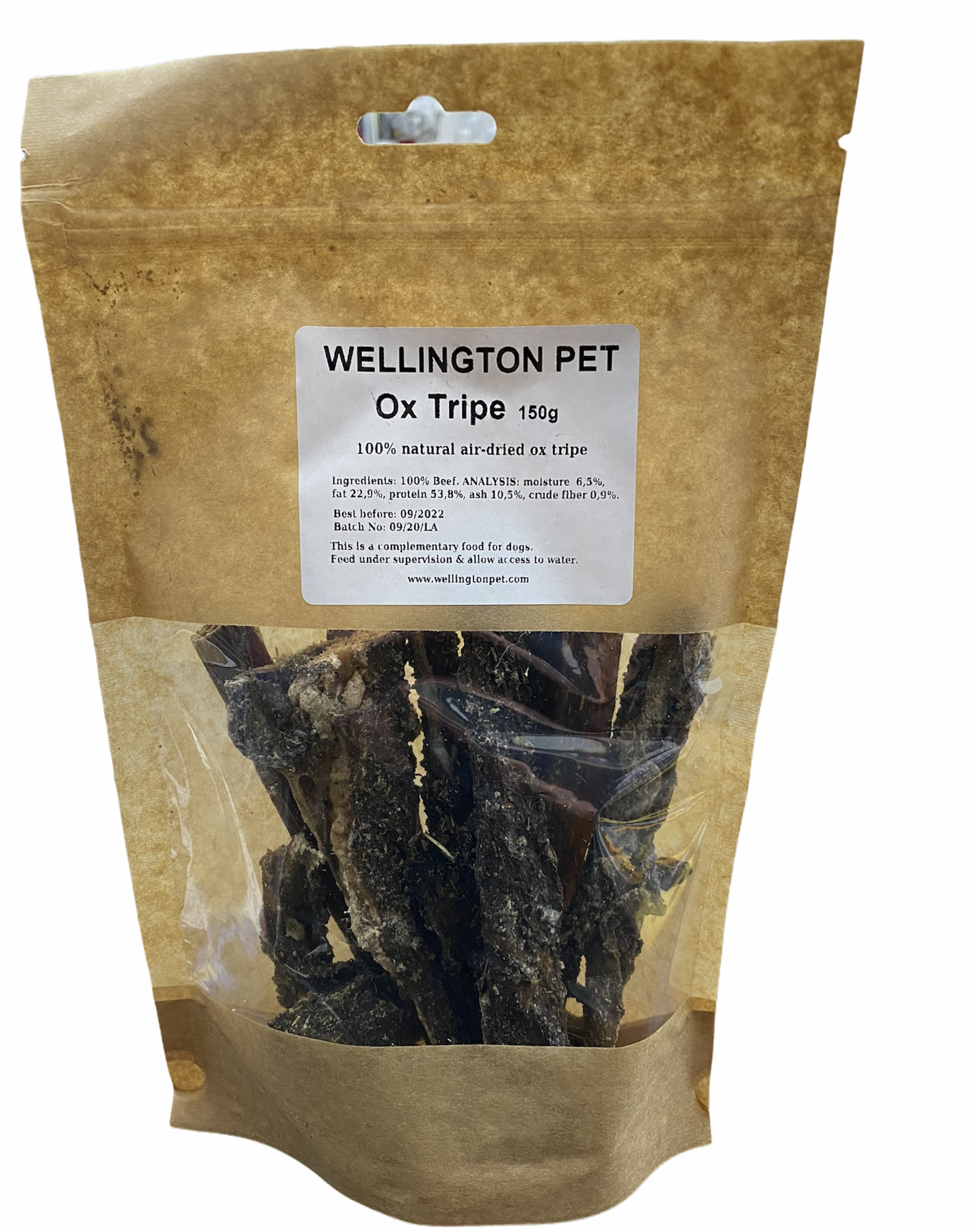 Wellington Ox Tripe 150g Bag