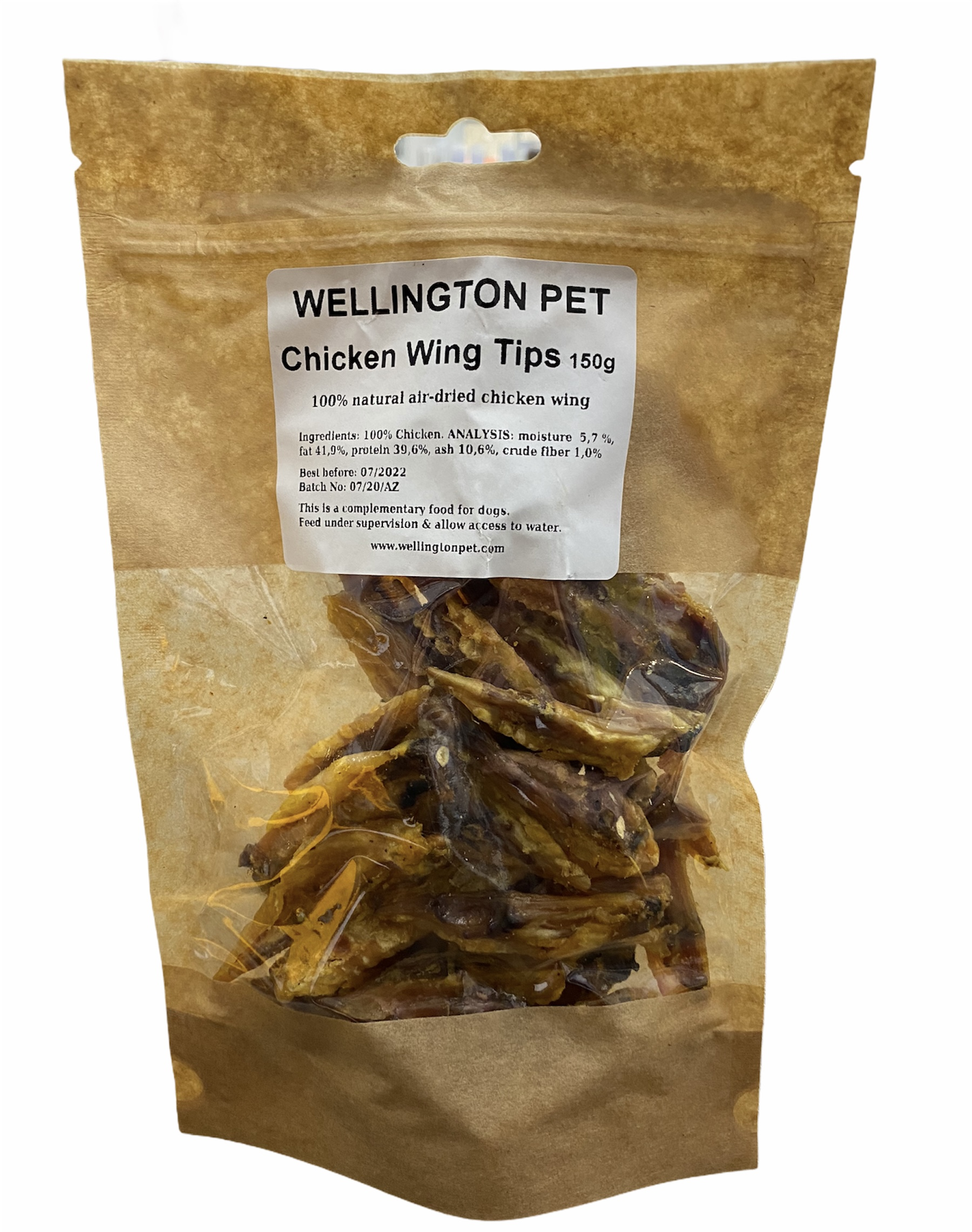 Wellington Chicken Wing Tips 150g Bag