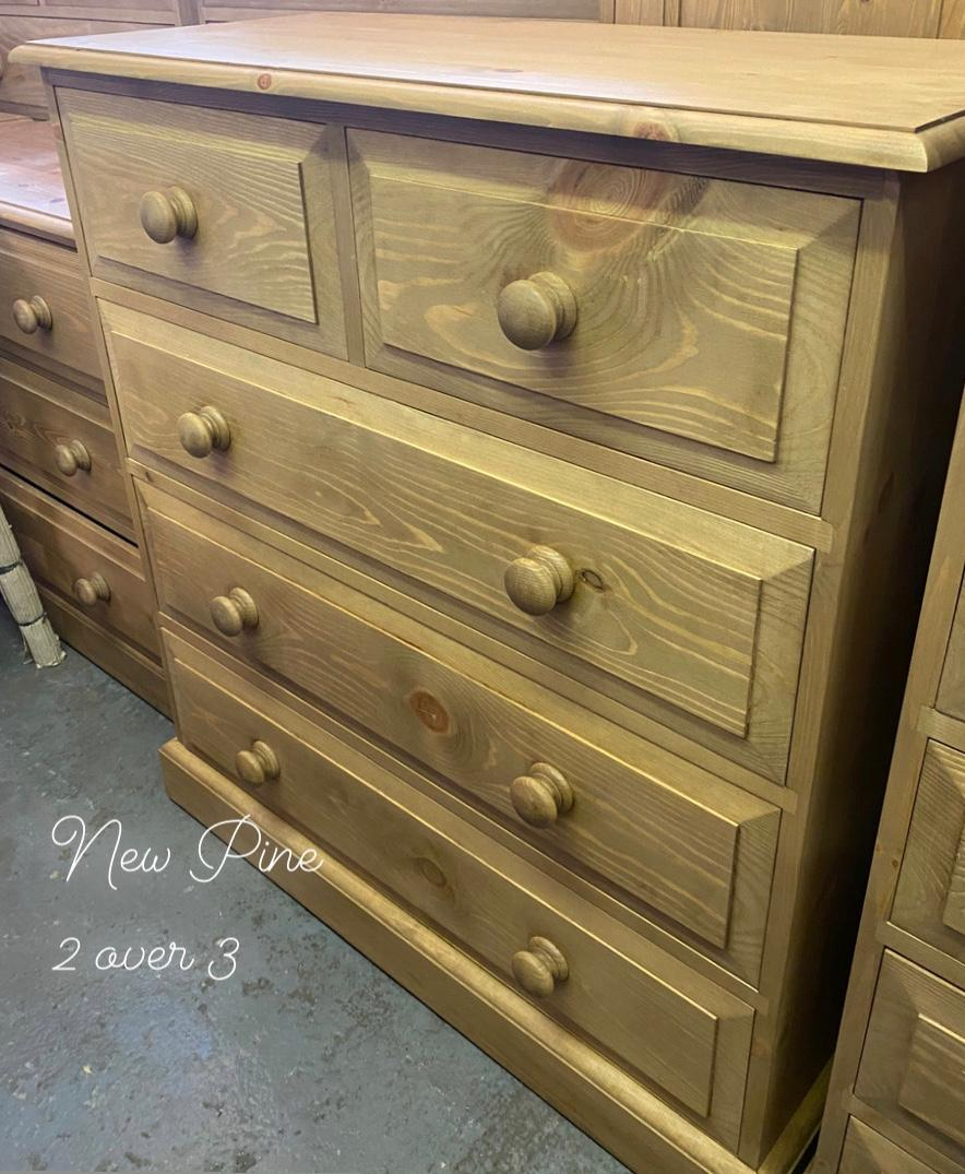 New pine chest of drawers
