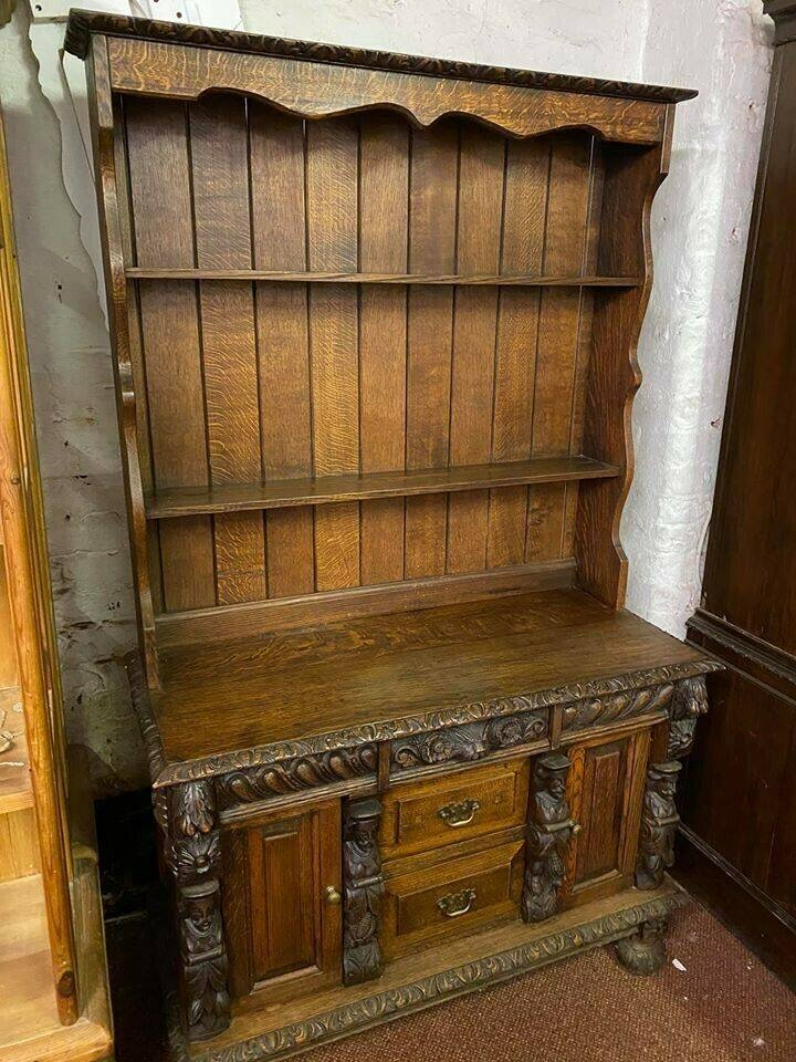 Carved oak dresser