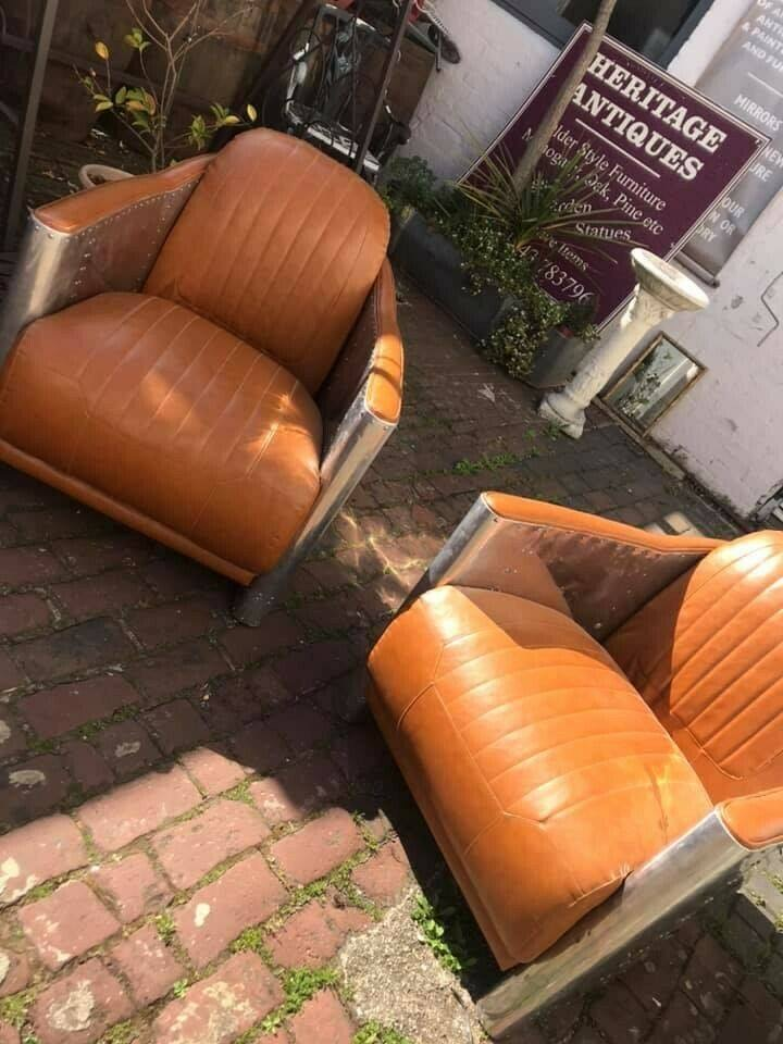 Pair of airplane style chairs