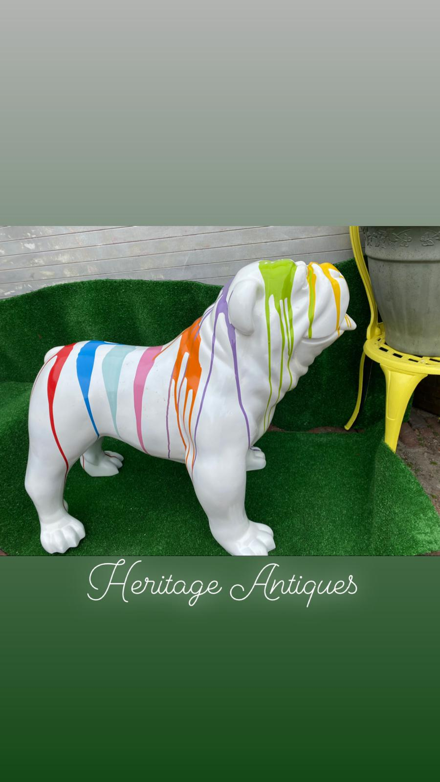 paint splattered British bulldog