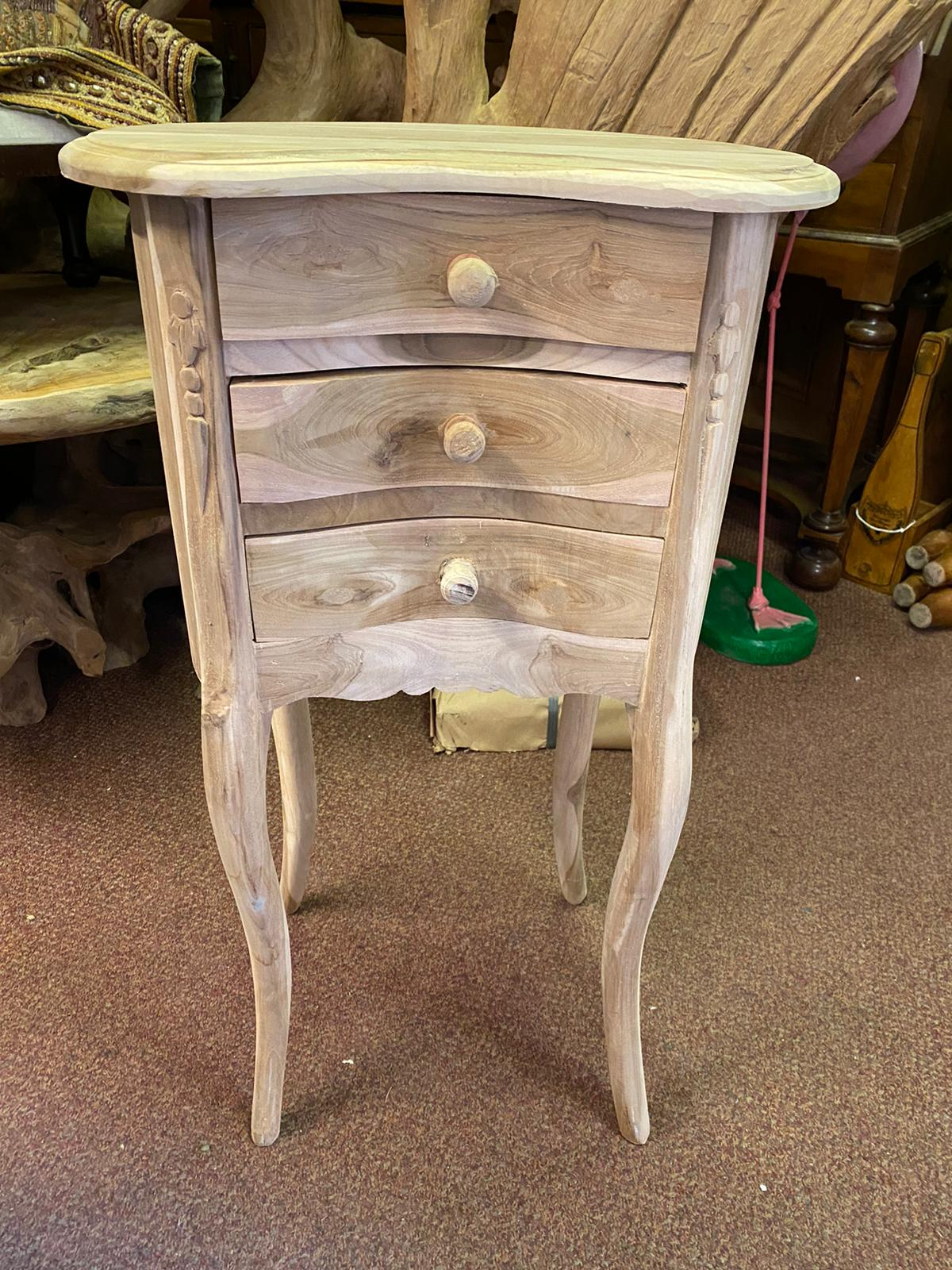 Kidney shaped bedside table