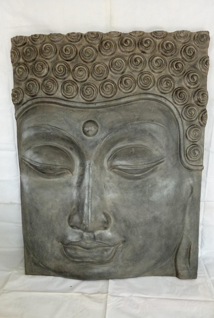 001 Thai Buddha face statue