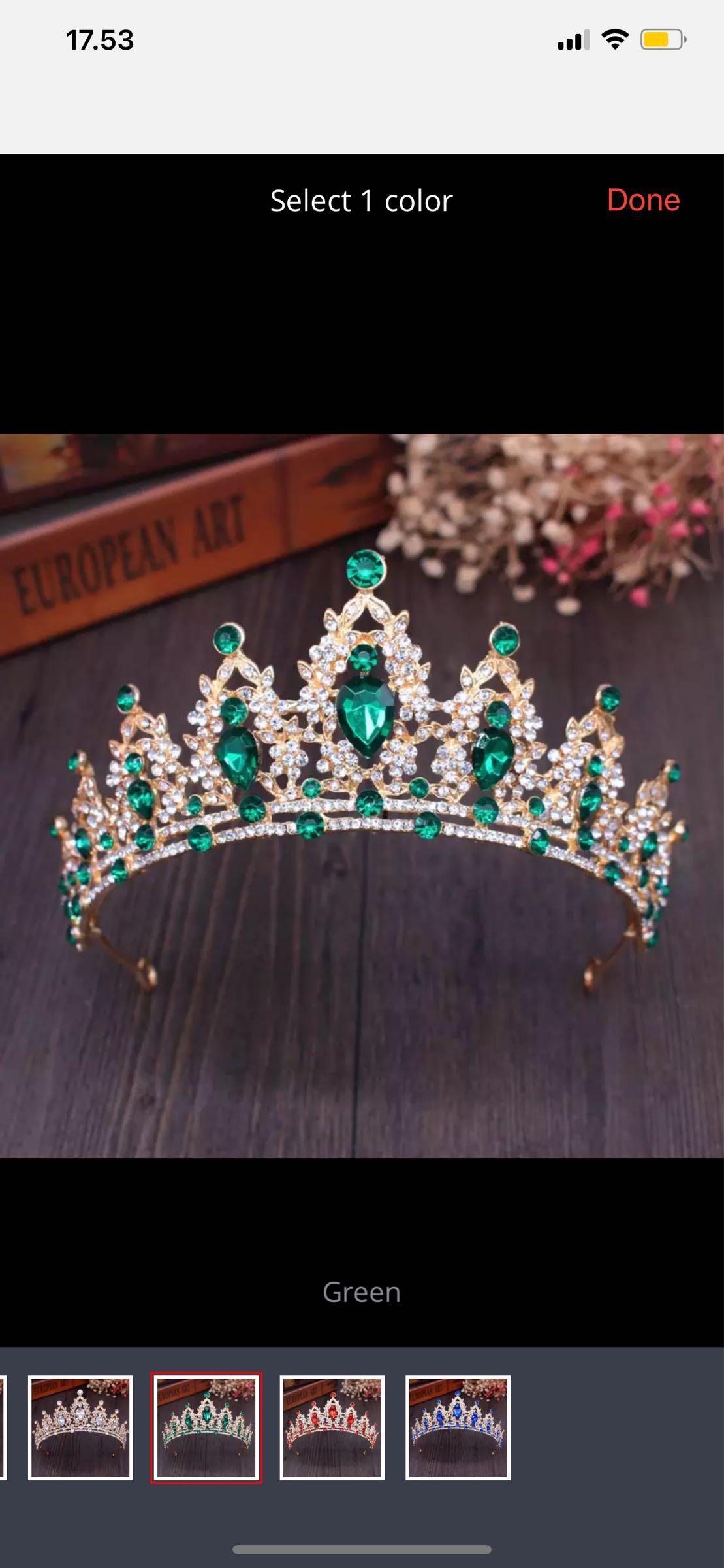 Kruunu, kuningatar vihreä
