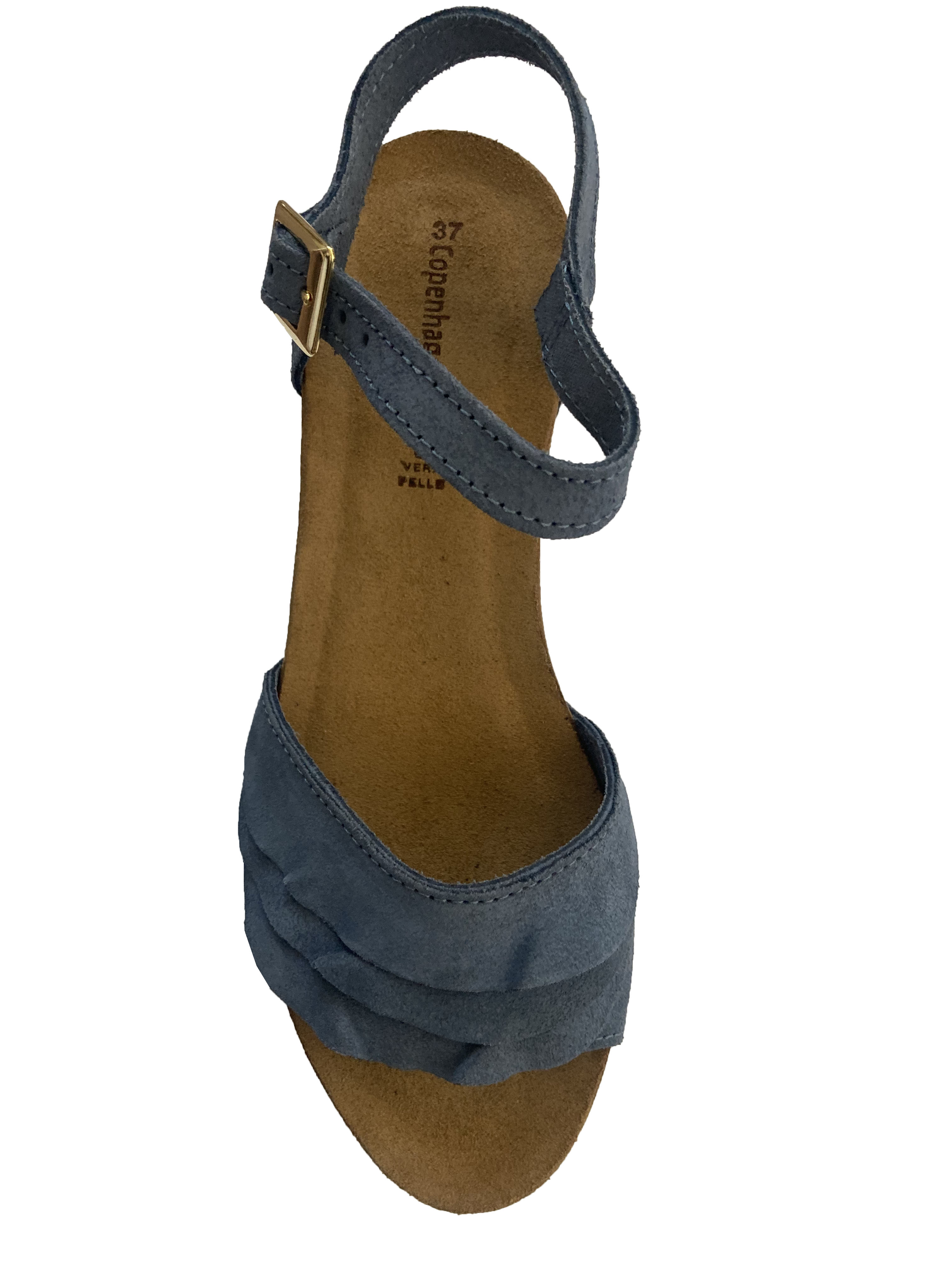 Copenhagen Shoes - Elvira Wedge Sandal Jeans Blue
