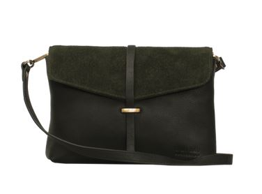 O My Bag - Ella Midi Green Soft Grain and Suede Leather