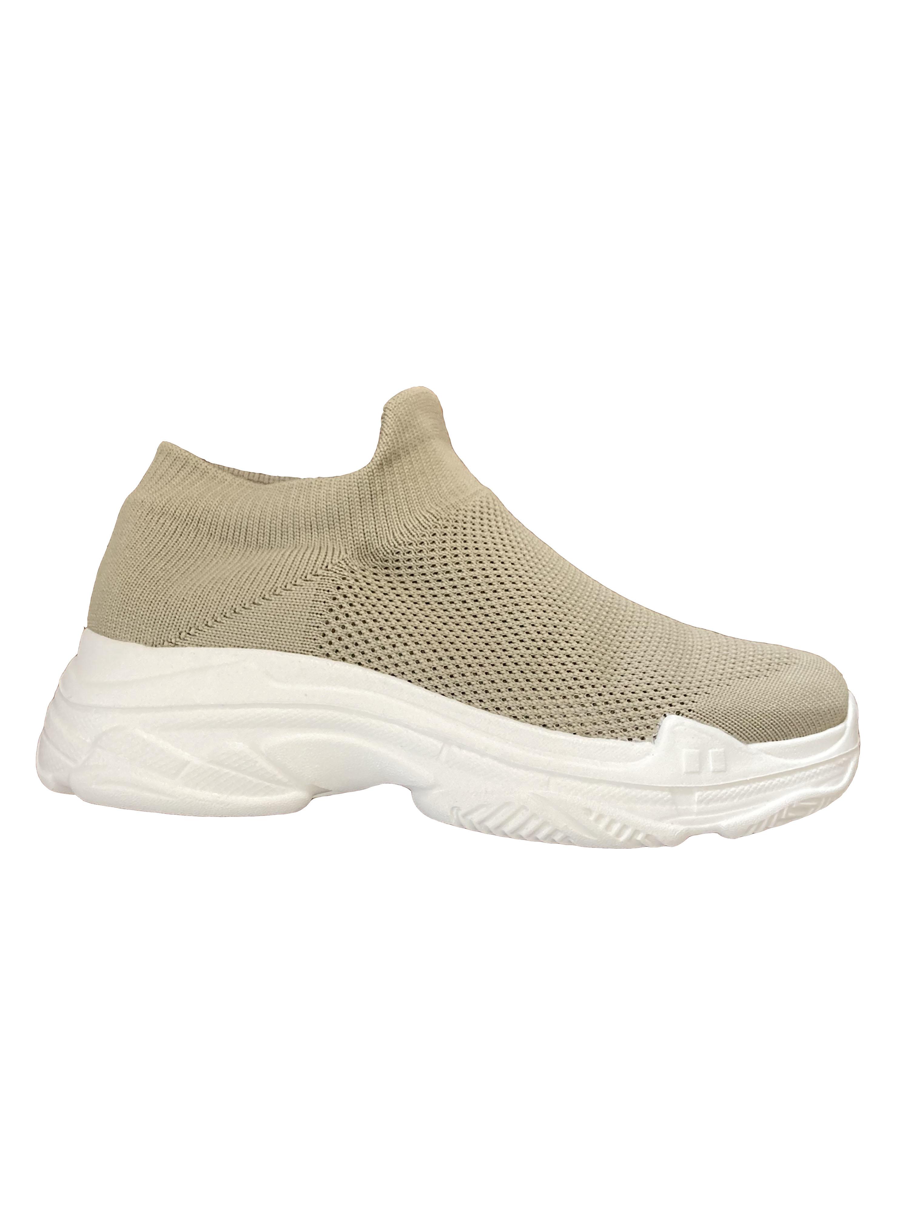 Ida - Chunky Sock Sneaker Beige