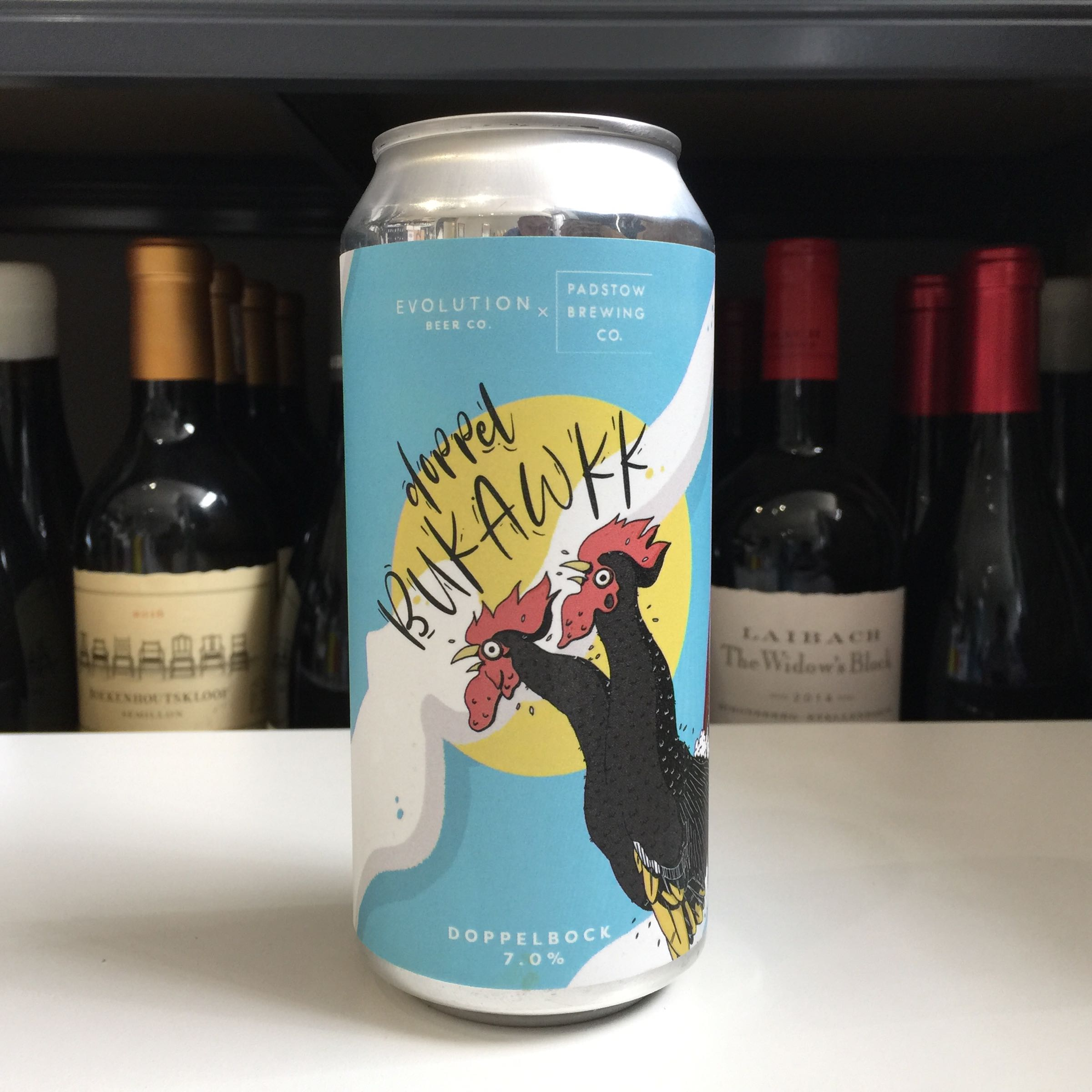 Evolution Beer x Padstow Brewery 'Doppelgängers Bukawkk' Dopplebock 440ml 7% ABV