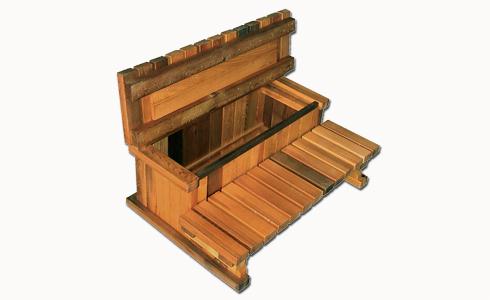 Trapp 2 trinn med oppbevaring 91 cm Cedar