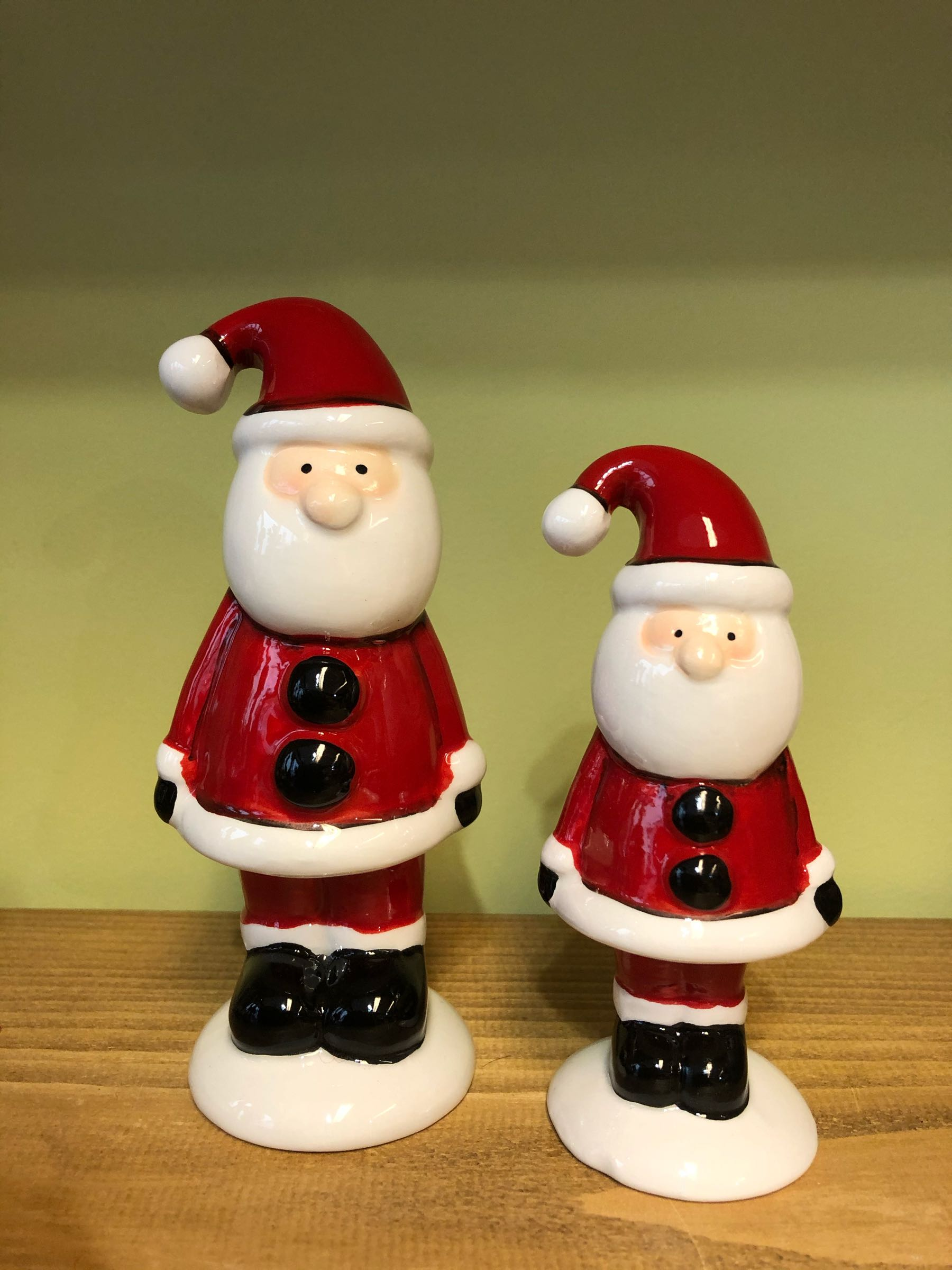 Standing ceramic Santa