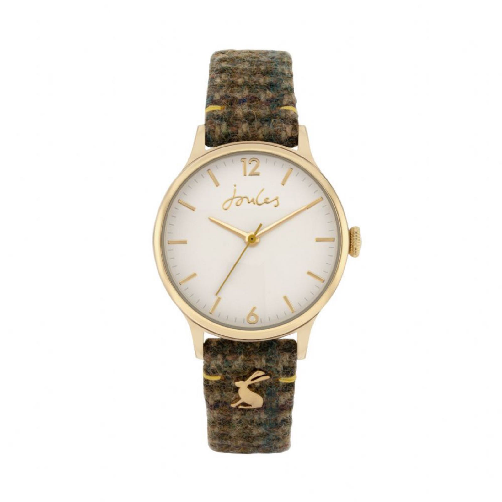 Joules 30th Anniversary green tweed watch Was £65