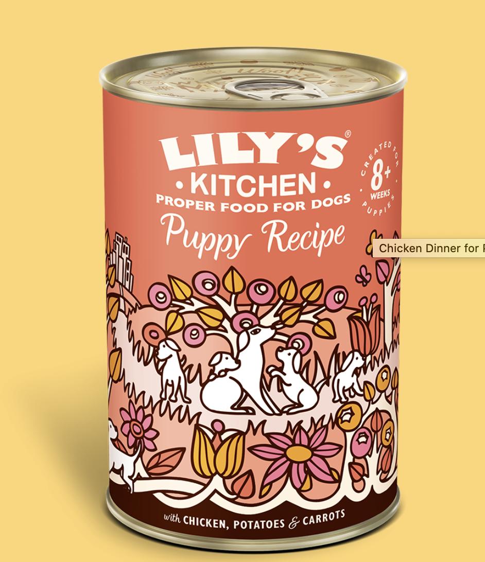 puppy chicken recipe 400g tin Lily's
