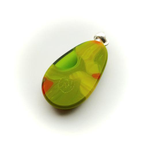 Hänge, pendant 'Green piece'