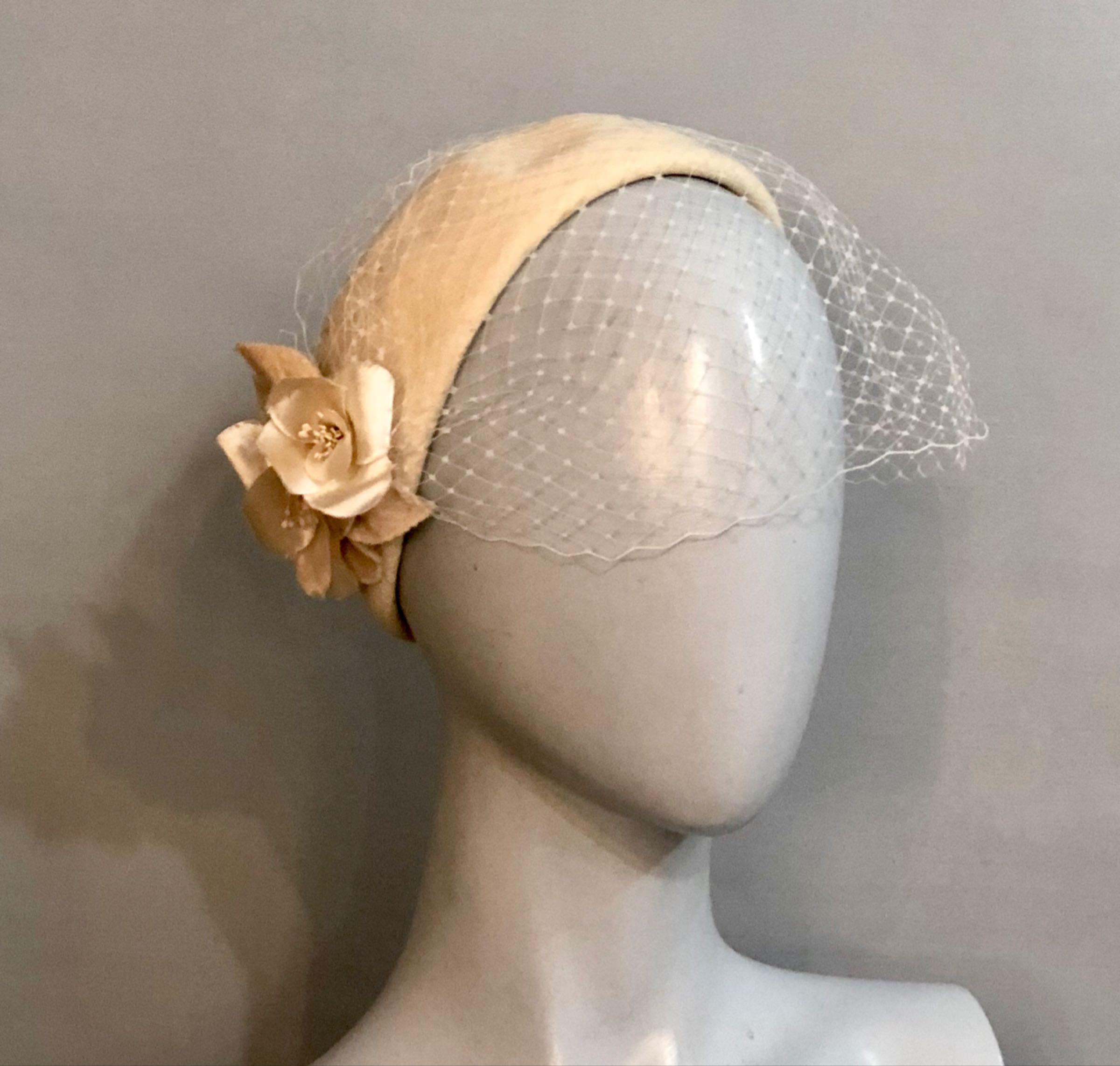 Ivory half hat
