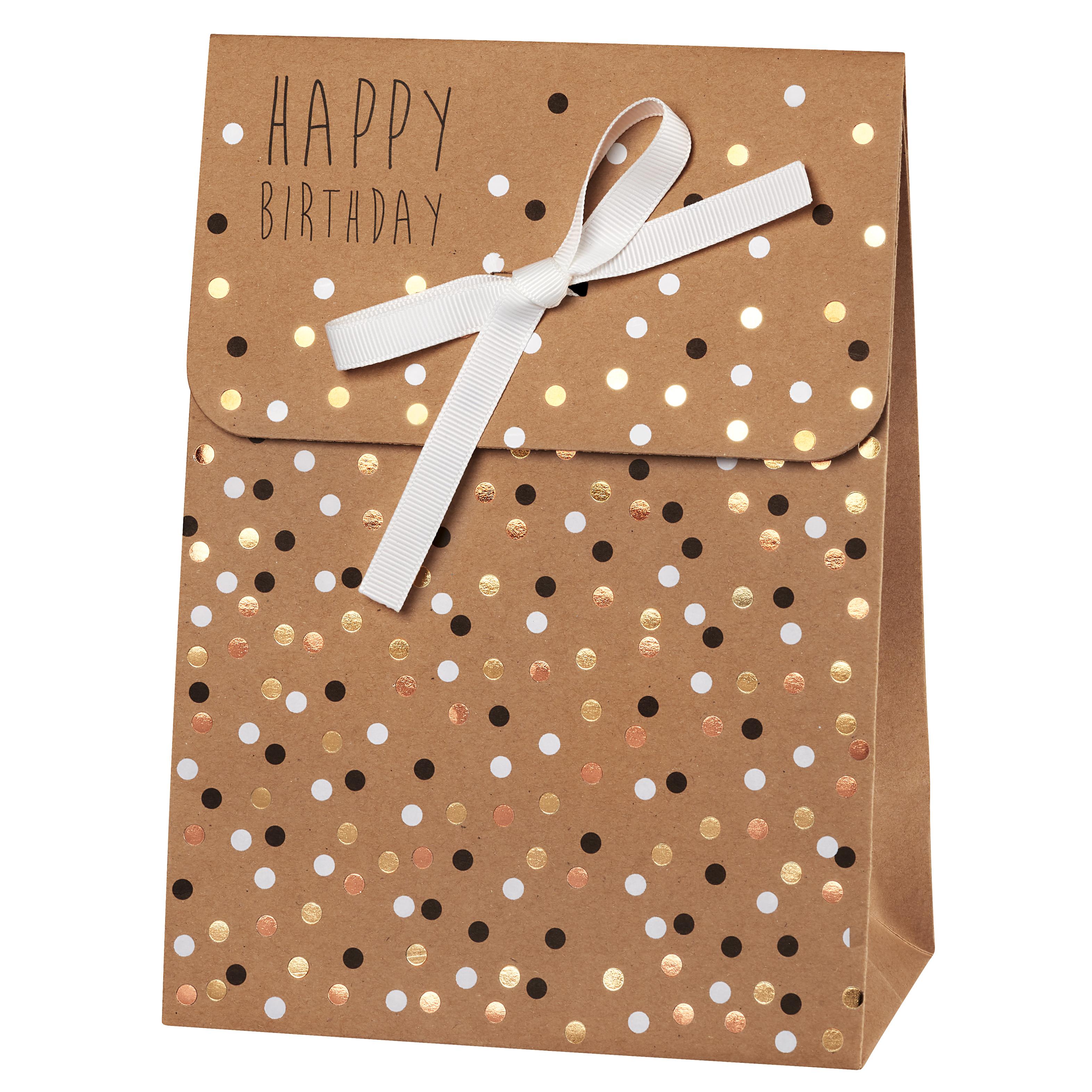 """Geschenktasche """"Happy Birthday"""" - räder"""