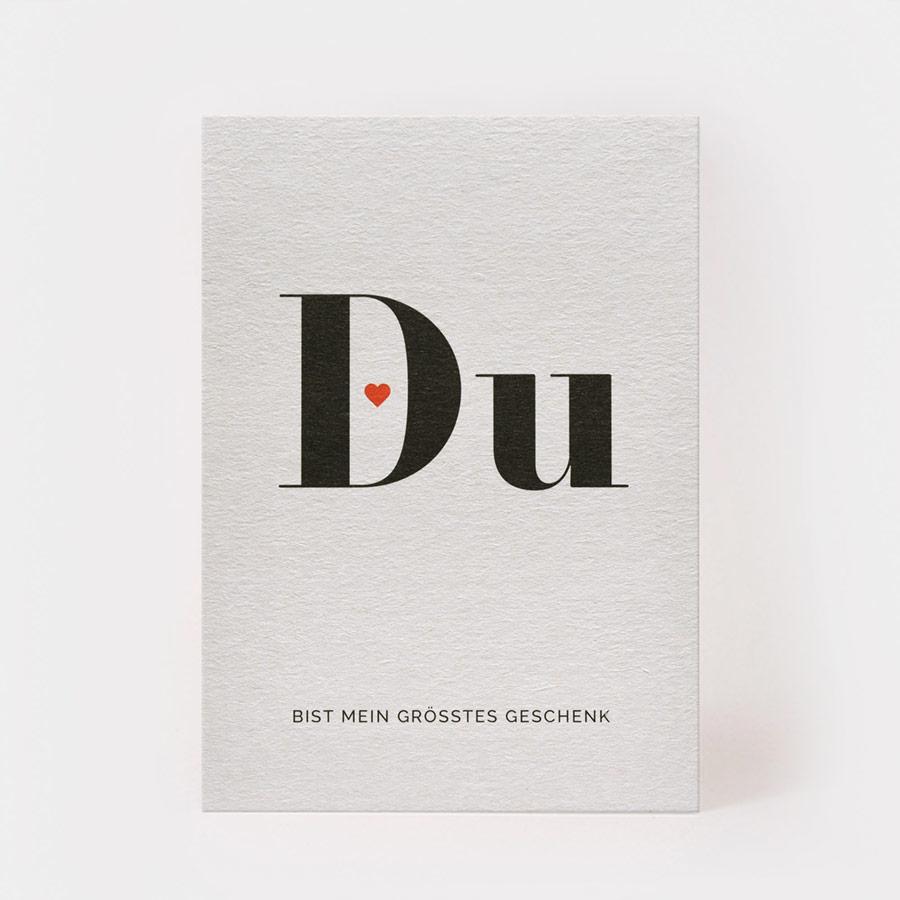 "Postkarte - ""Du"" - Kartenmarie"