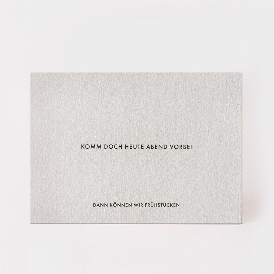 """Postkarte - """"Frühstücken"""" - Kartenmarie"""